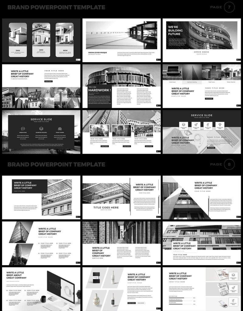 美食品牌幻灯片PPT模板素材下载Brand PowerPoint Presentation Template插图(4)
