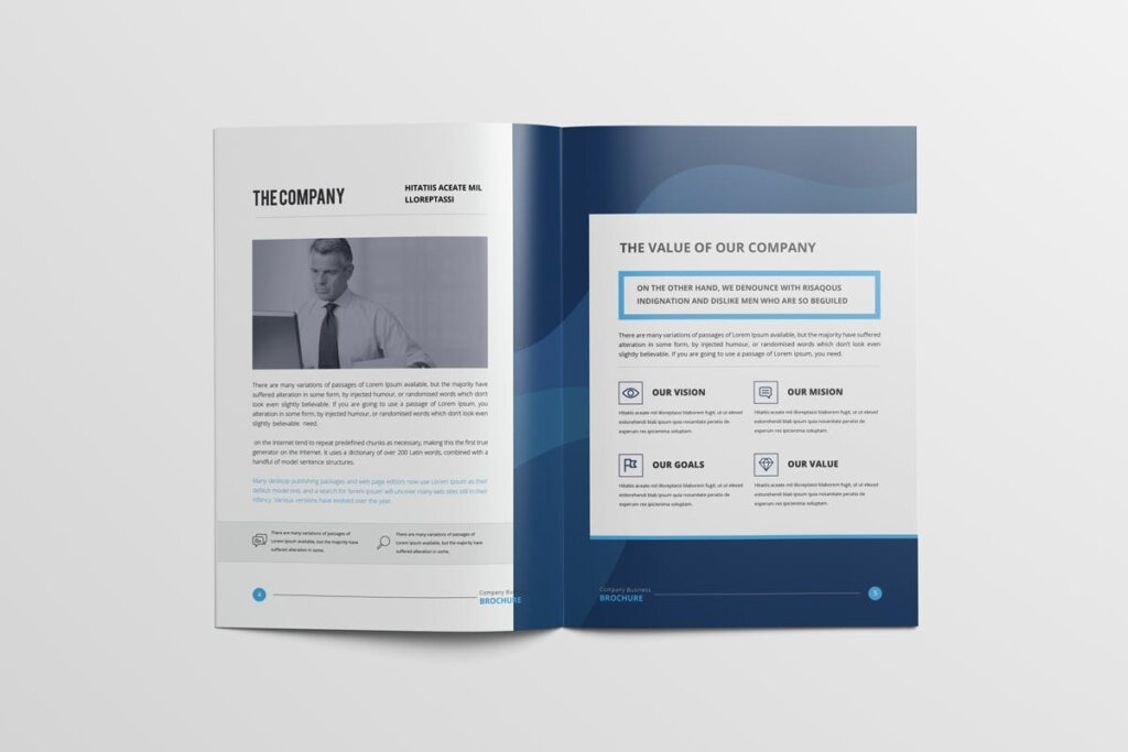 现代多用途小册子传单海报模板素材下载Clean Modern Multipurpose Brochure V2插图(4)