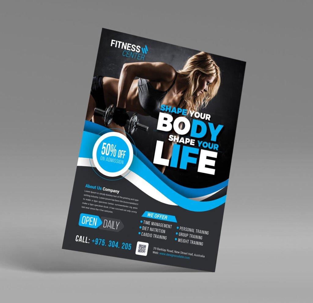 健身房互动派对海报传单模板素材下载Q9PCNB插图(4)