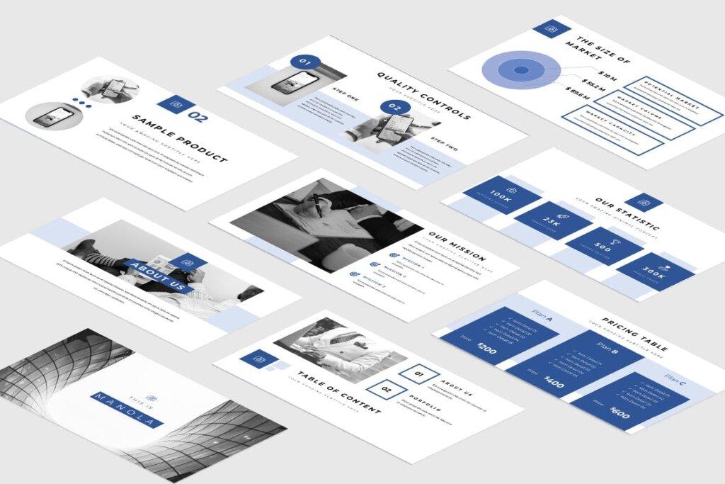 企业融资策划提案幻灯片PPT模版下载Manola Pitch Deck Powerpoint Presentation插图(4)