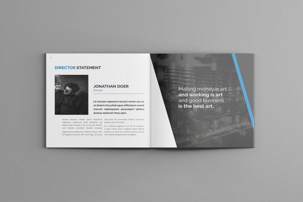 公司简介品牌宣传小册子模板素材Mavka Square Company Profile Brochure Template插图(4)