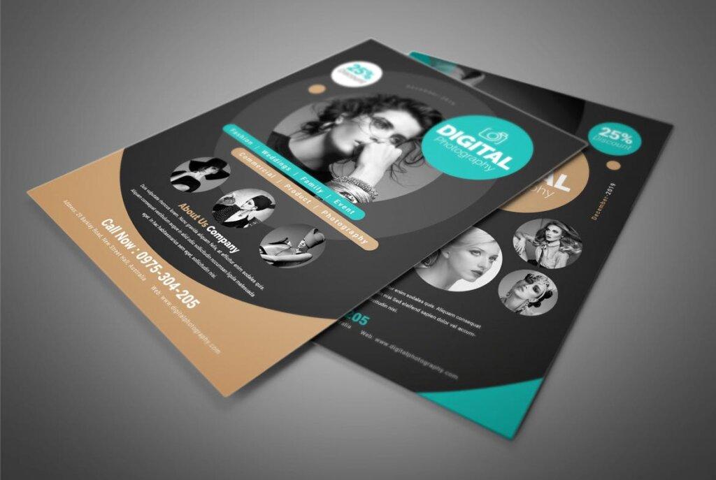 摄影主题活动派对传单海报模板素材Photography Flyer QVXVBW插图(4)