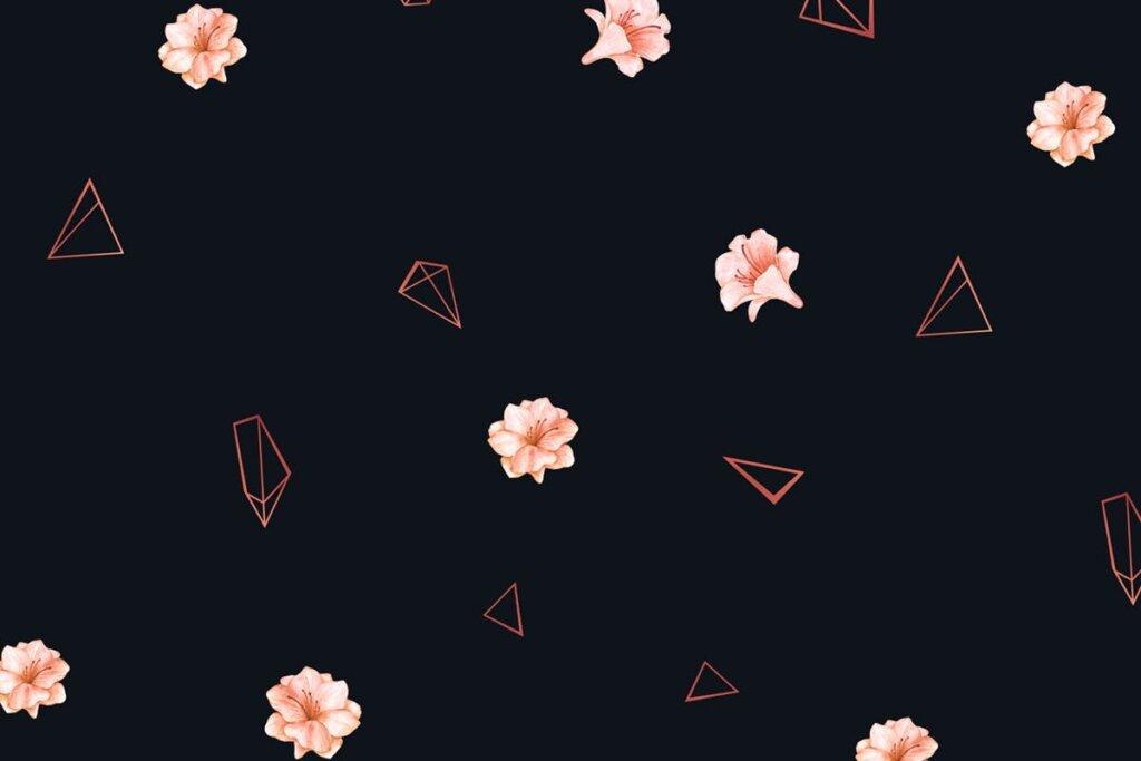 婚礼装饰图案纹理素材模版下载Scarlet Rose Seamless Patterns插图(4)