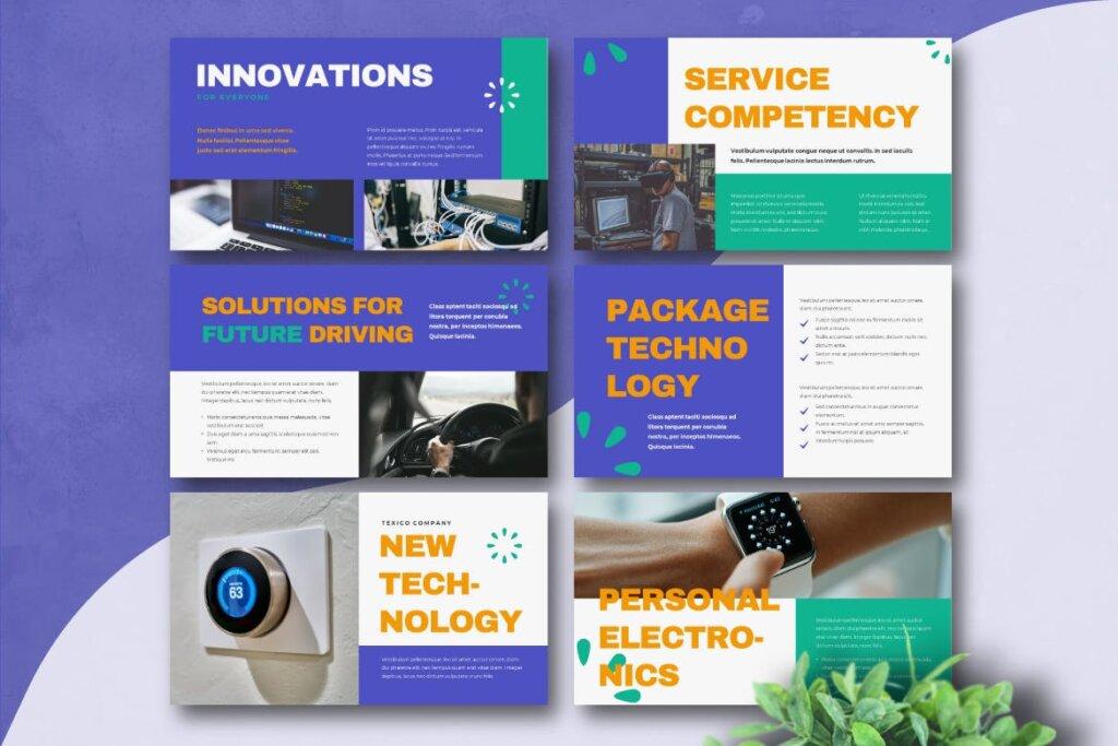 云概念云生活主题演讲幻灯片PPT模版TEXICO Technology Company Powerpoint Template插图(4)