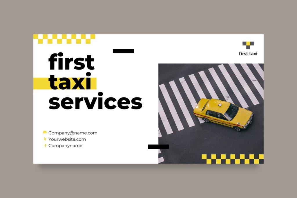 出租车行业数据大调查数据汇报幻灯片PPT模版Taxi Services PowerPoint Presentation Template插图(4)