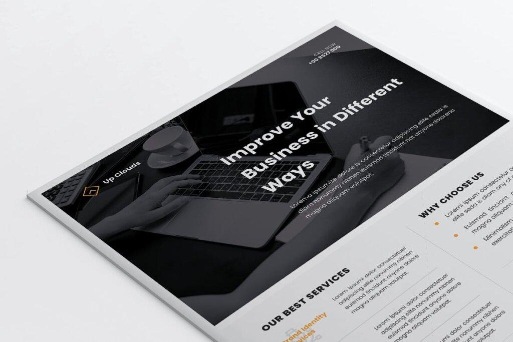 企业商业传单模板产品介绍模版素材下载UPCLOUDS Multipurpose Business Flyer插图(4)