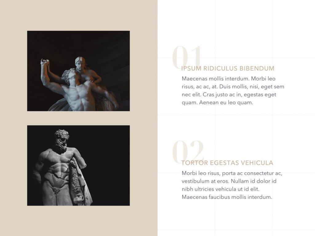 石膏像艺术概念主题幻灯片PPT模板素材下载Antique PowerPoint Template插图(5)