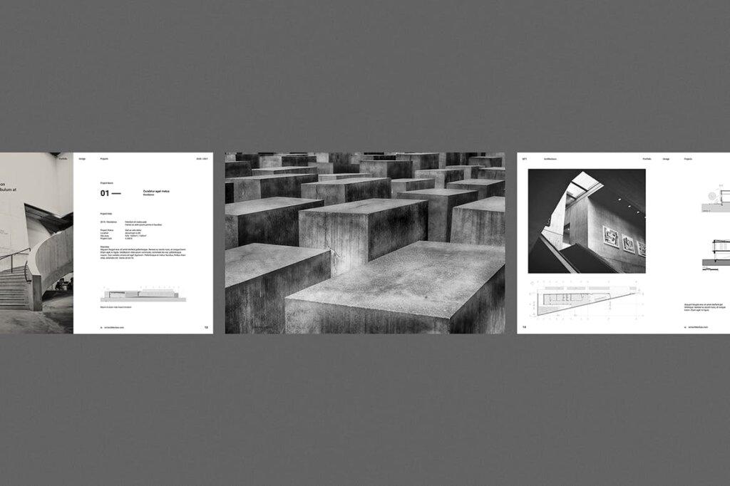 现代建筑艺术博物馆画册模板手册模板素材下载Architecture Brochure插图(5)