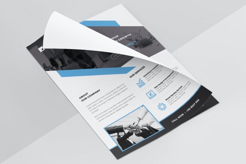 企业商务传单海报模板素材下载BRANDS插图(5)