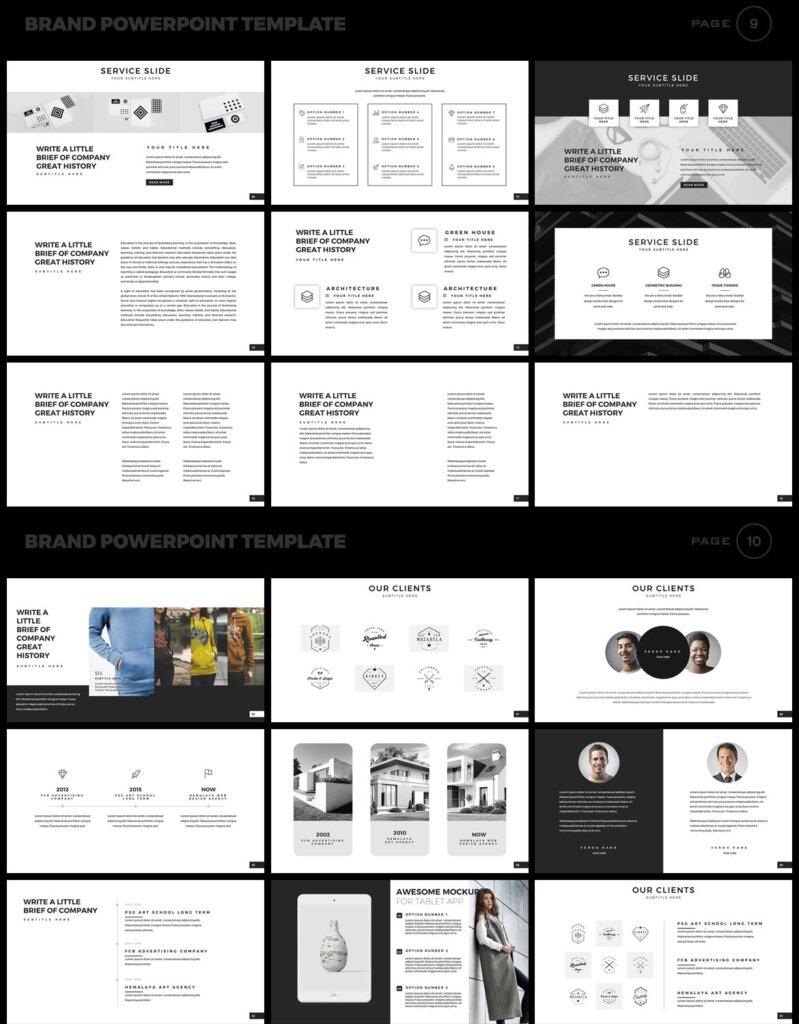美食品牌幻灯片PPT模板素材下载Brand PowerPoint Presentation Template插图(5)