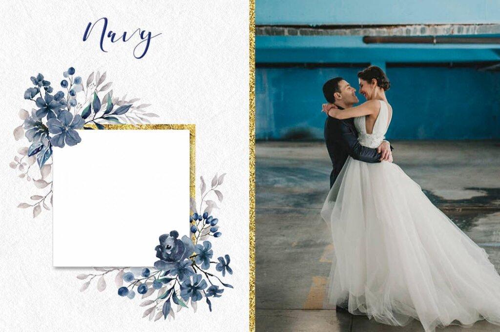 婚礼装饰图案花纹背景图案下载Coral Garden Watercolor Clip Art Collection插图(5)