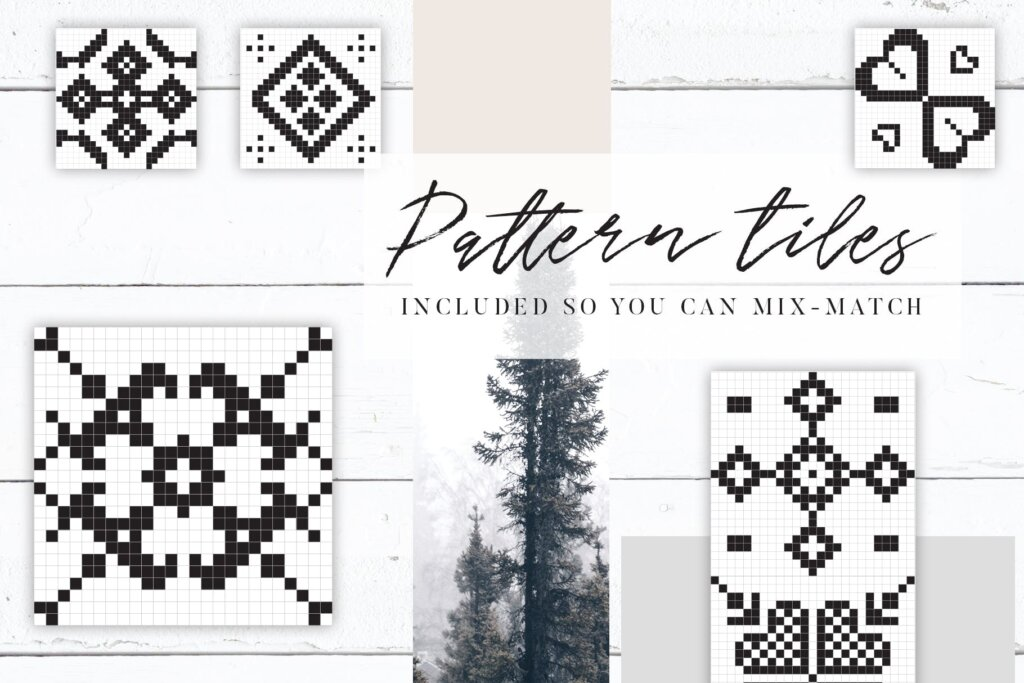 20个刺绣风格矢量图案素材纹理素材Embroidery Style Vector Patterns插图(4)