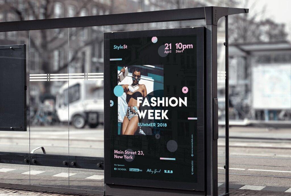时尚风格海报传单/周末海报传单模板素材下载Fashion Week Poster插图(5)