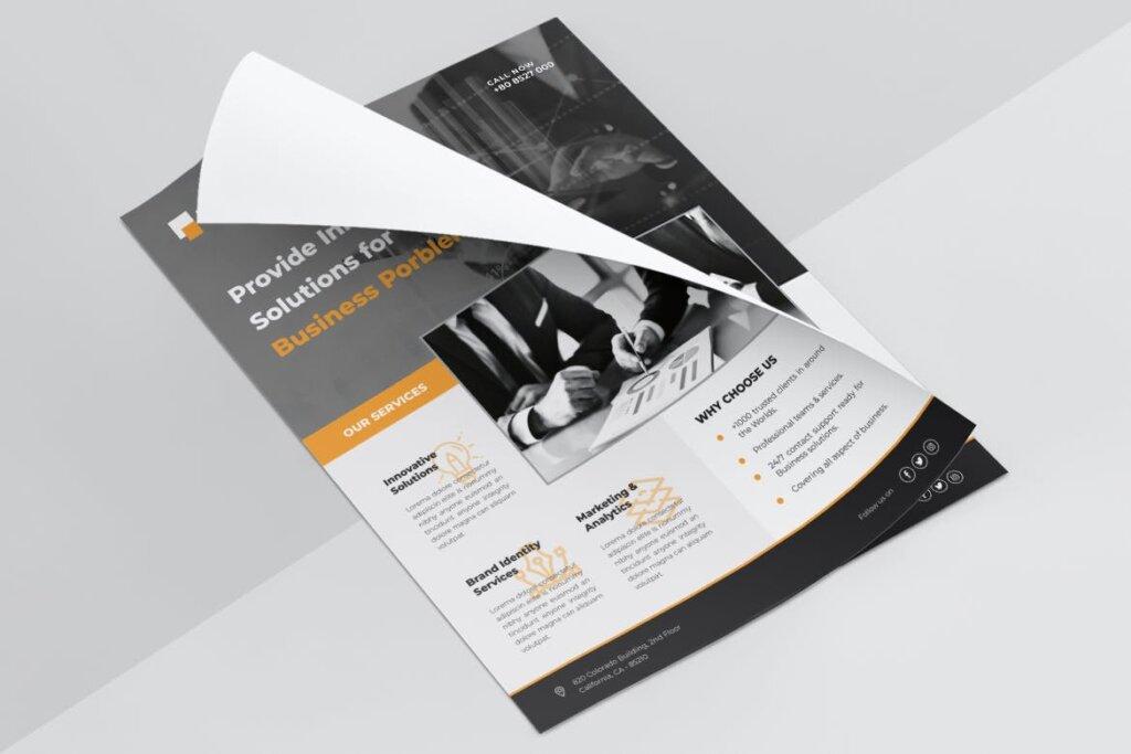 企业商务传单海报模板素材下载LITHIUM Multipurpose Business Flyer插图(5)