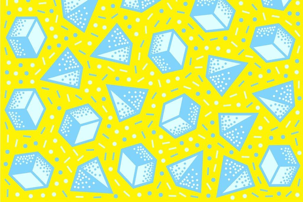 现代和几何图案的简单设计和形状装饰图案纹理素材Pop 3D Geo Patterns插图(5)
