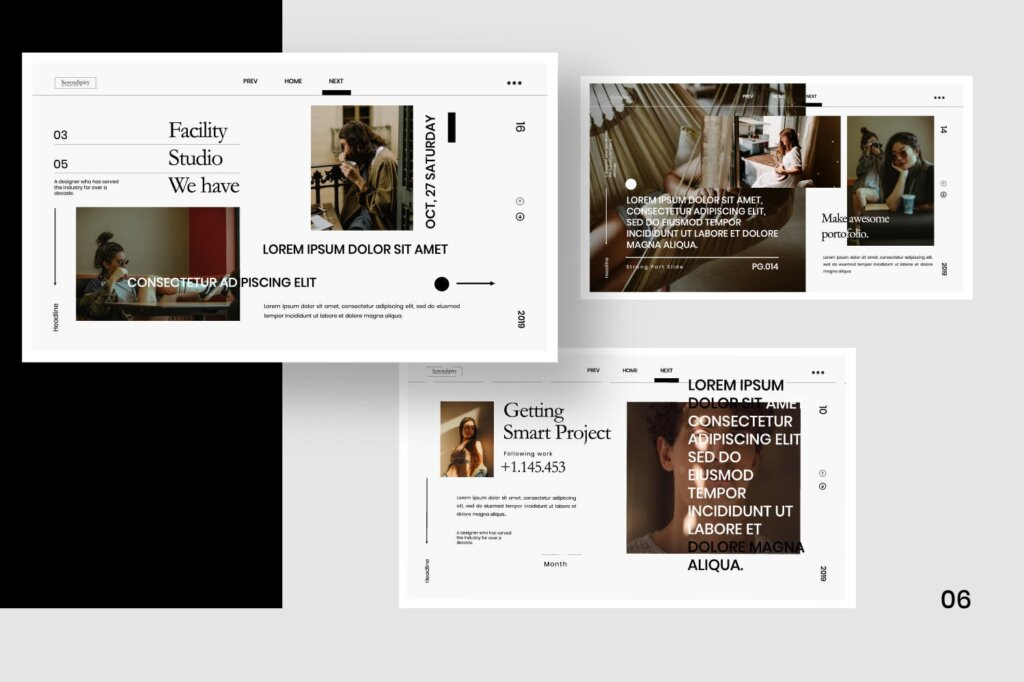 企业商务汇演素材PPT幻灯片模板Serendipity Modern Fashion Design Powerpoint插图(4)