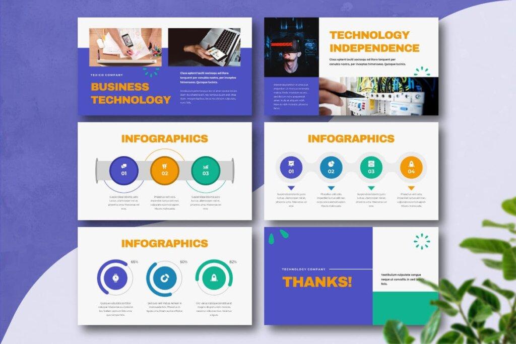 云概念云生活主题演讲幻灯片PPT模版TEXICO Technology Company Powerpoint Template插图(5)