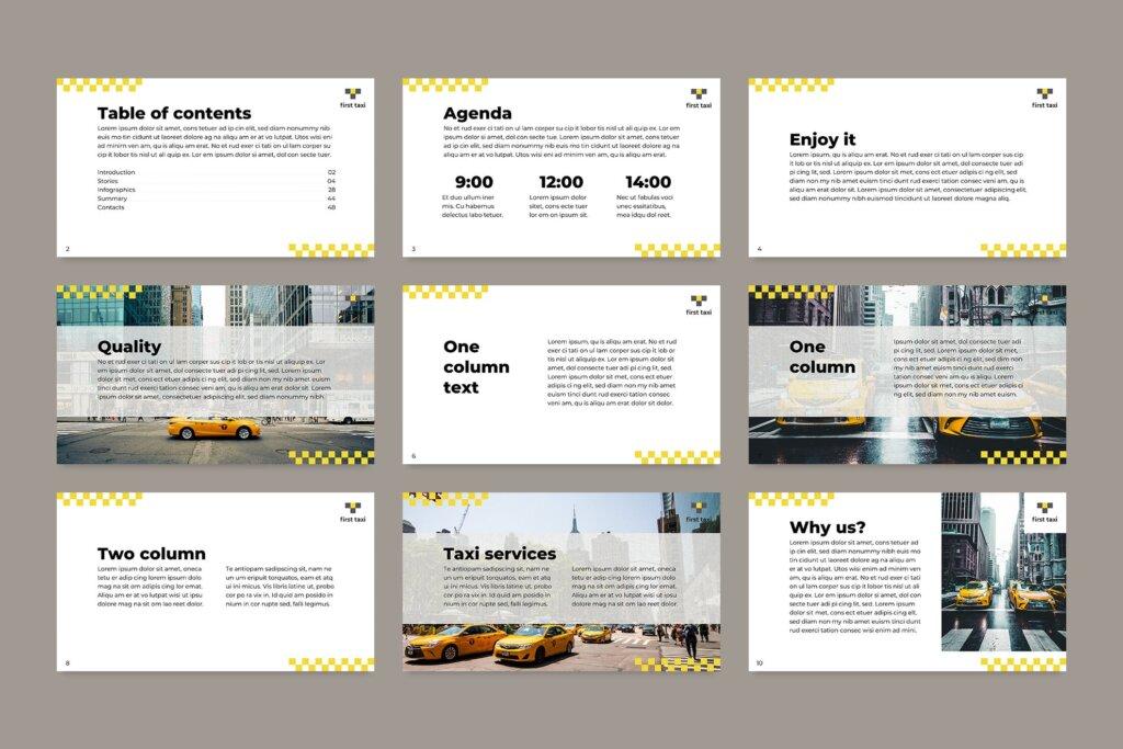 出租车行业数据大调查数据汇报幻灯片PPT模版Taxi Services PowerPoint Presentation Template插图(5)