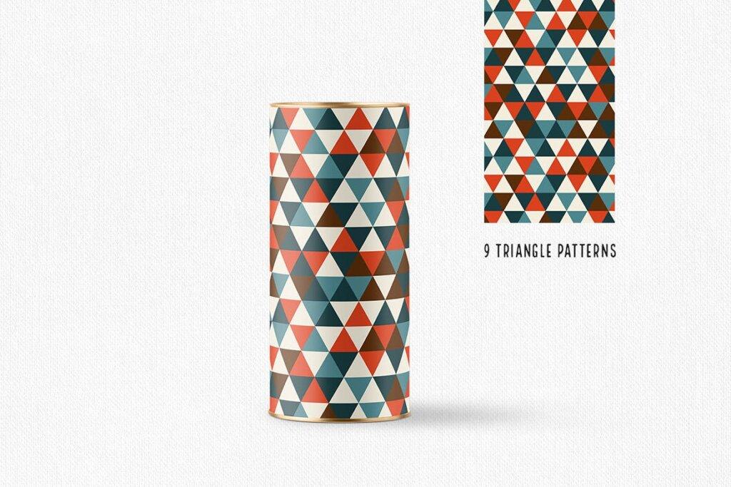 三角形平面构成图形图案纹理素材/品牌购物几何图形肌理图形纹理素材Triangle Patterns插图(5)
