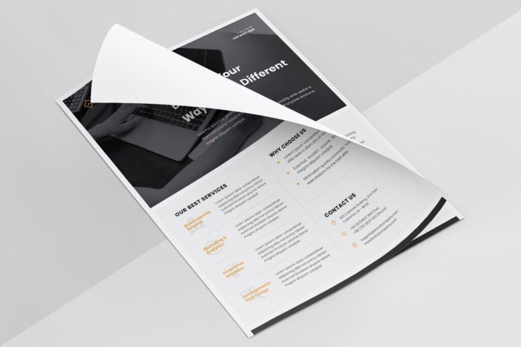 企业商业传单模板产品介绍模版素材下载UPCLOUDS Multipurpose Business Flyer插图(5)