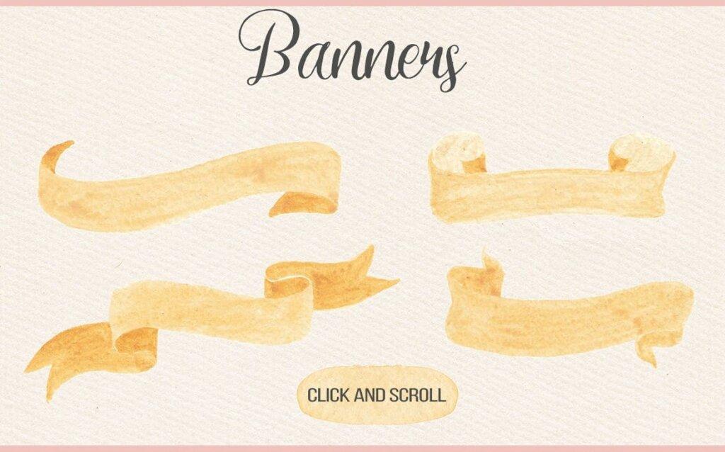 水彩花卉枝干装饰图案/婚礼邀请函装饰图案素材Watercolor Floral Design Kit插图(5)