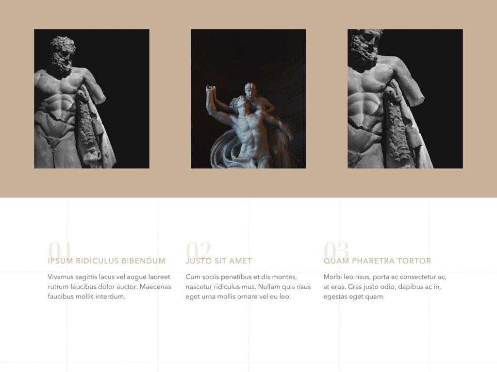 石膏像艺术概念主题幻灯片PPT模板素材下载Antique PowerPoint Template插图(6)