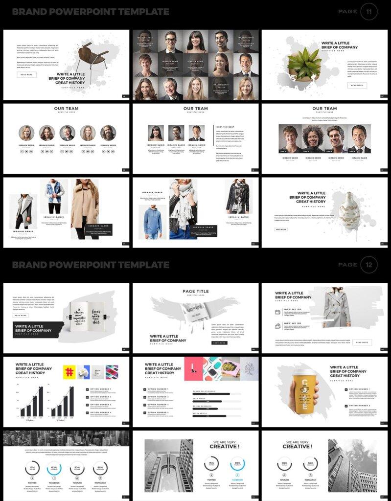 美食品牌幻灯片PPT模板素材下载Brand PowerPoint Presentation Template插图(6)