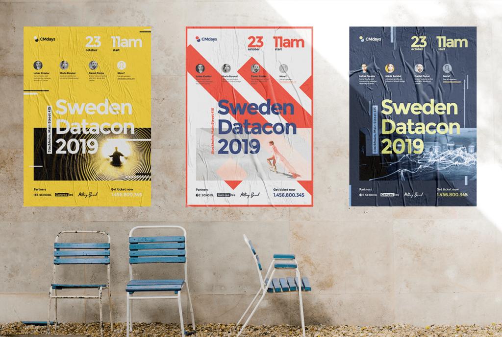 国际大型讲座会议海报传单模板素材下载Conference Poster 1插图(5)