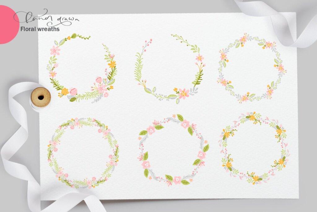 品牌标志图案纹理/品牌包装装饰图案纹理素材Fresh Feeling Spring Vector Kit SVG插图(6)