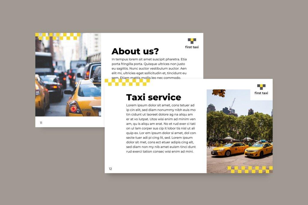 出租车行业数据大调查数据汇报幻灯片PPT模版Taxi Services PowerPoint Presentation Template插图(6)