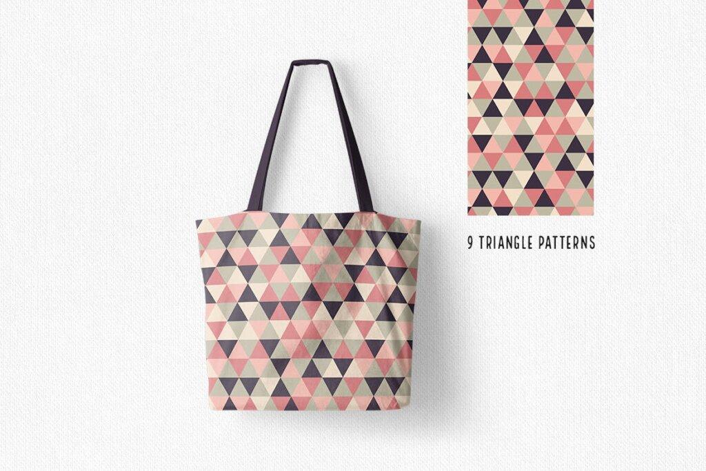 三角形平面构成图形图案纹理素材/品牌购物几何图形肌理图形纹理素材Triangle Patterns插图(6)