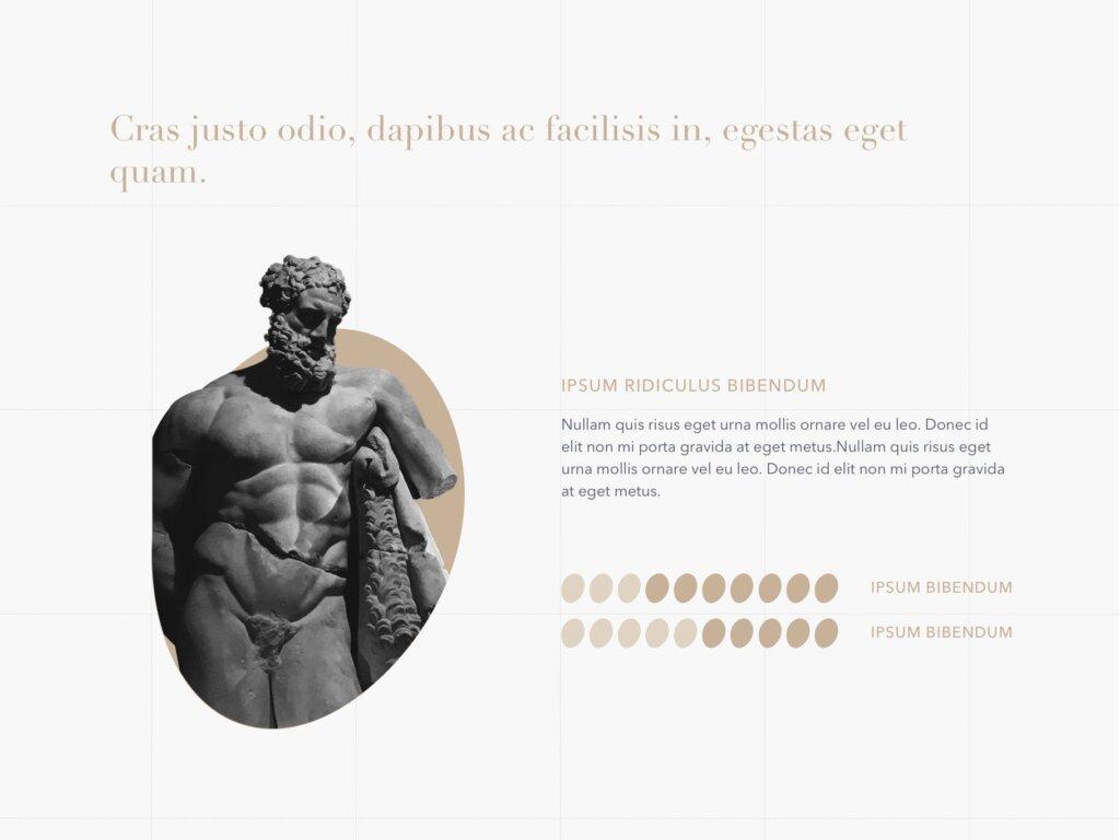 石膏像艺术概念主题幻灯片PPT模板素材下载Antique PowerPoint Template插图(7)