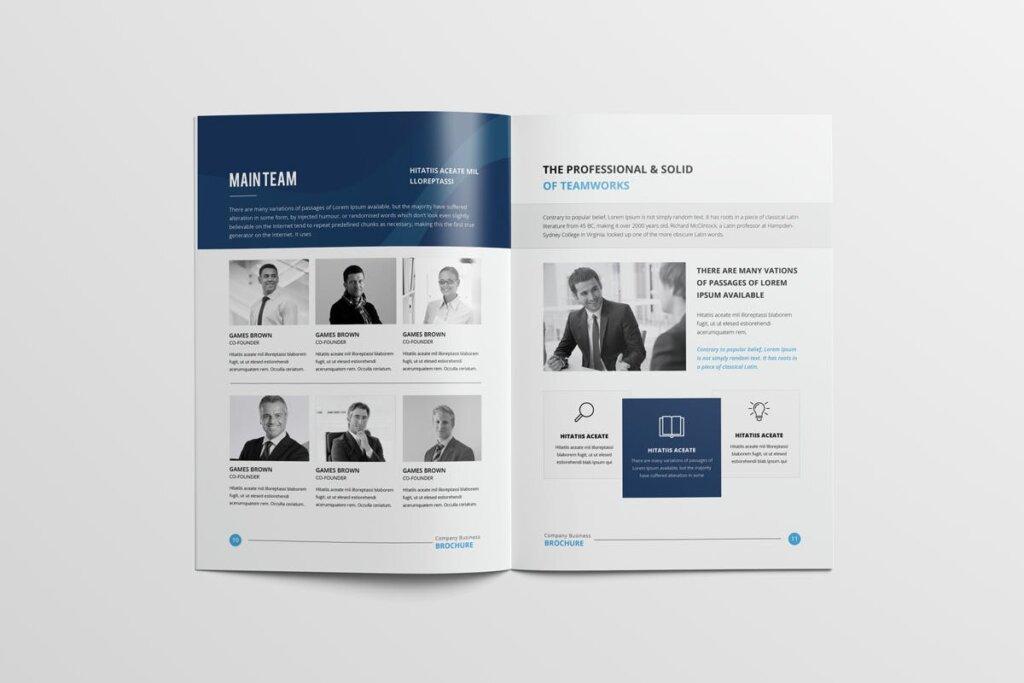 现代多用途小册子传单海报模板素材下载Clean Modern Multipurpose Brochure V2插图(7)