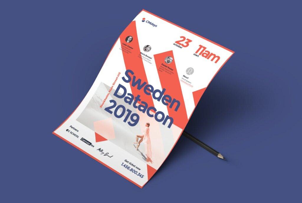国际大型讲座会议海报传单模板素材下载Conference Poster 1插图(6)