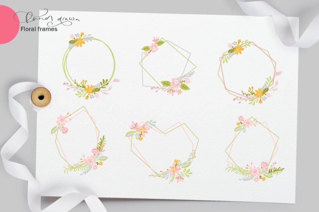 品牌标志图案纹理/品牌包装装饰图案纹理素材Fresh Feeling Spring Vector Kit SVG插图(7)