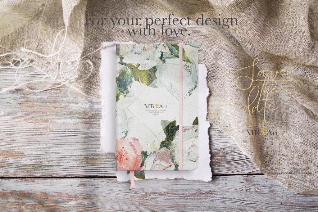 油画装饰图案婚礼邀请函装饰图案下载Oil painted Fine Art roses collection插图(6)