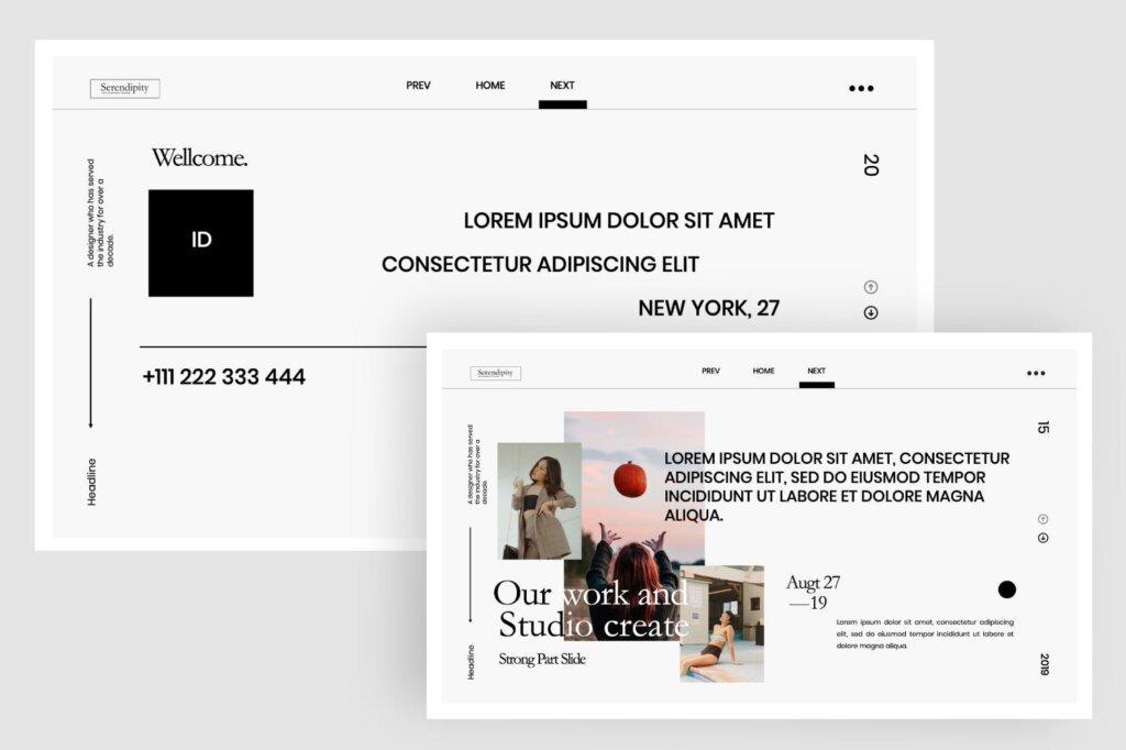 企业商务汇演素材PPT幻灯片模板Serendipity Modern Fashion Design Powerpoint插图(5)