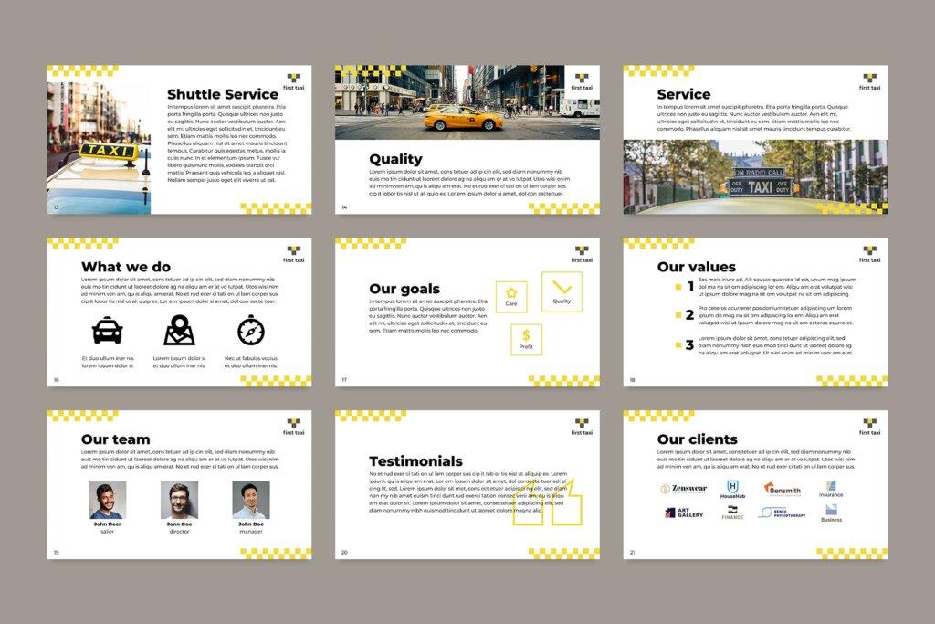 出租车行业数据大调查数据汇报幻灯片PPT模版Taxi Services PowerPoint Presentation Template插图(7)