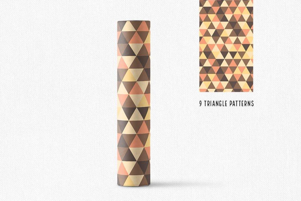 三角形平面构成图形图案纹理素材/品牌购物几何图形肌理图形纹理素材Triangle Patterns插图(7)