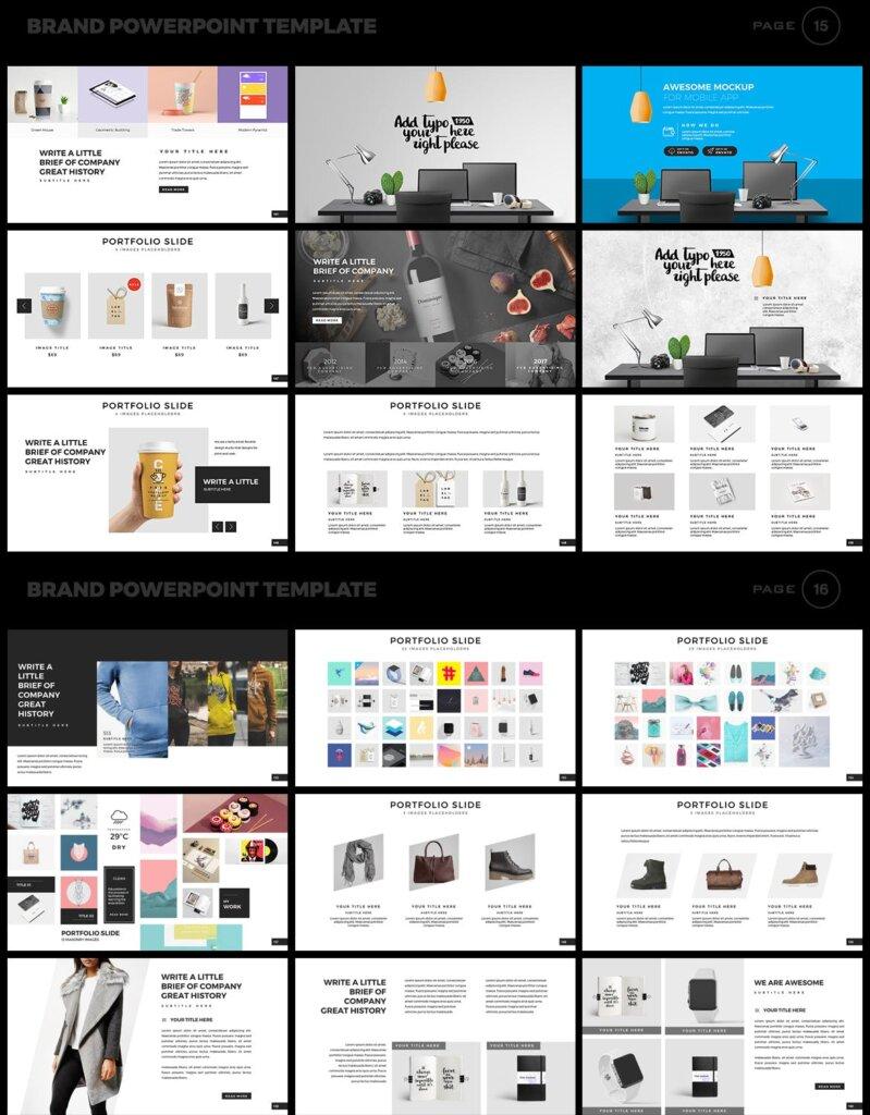 美食品牌幻灯片PPT模板素材下载Brand PowerPoint Presentation Template插图(8)