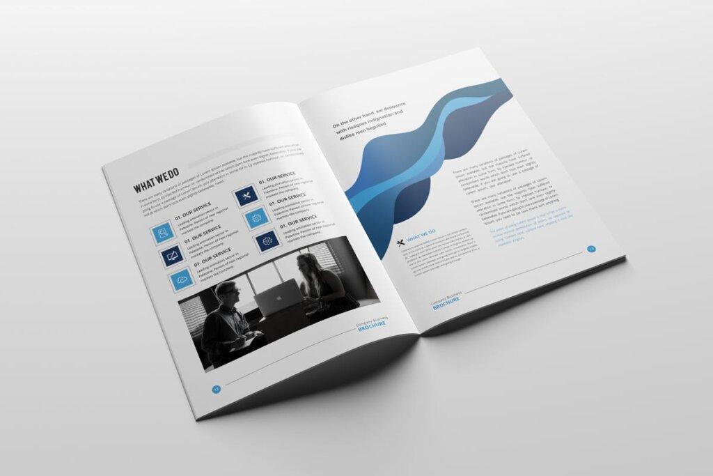 现代多用途小册子传单海报模板素材下载Clean Modern Multipurpose Brochure V2插图(8)