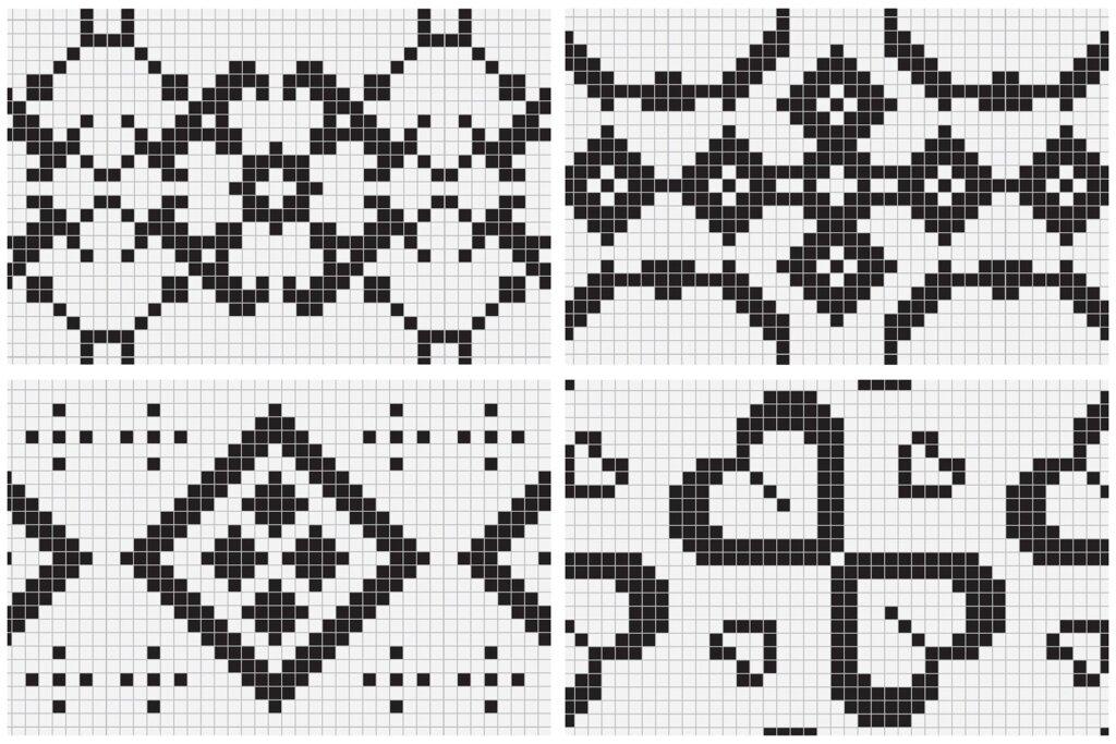 20个刺绣风格矢量图案素材纹理素材Embroidery Style Vector Patterns插图(7)