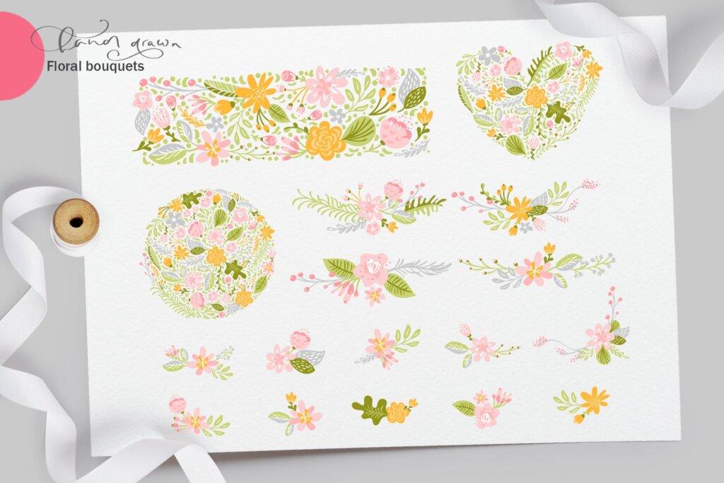 品牌标志图案纹理/品牌包装装饰图案纹理素材Fresh Feeling Spring Vector Kit SVG插图(8)