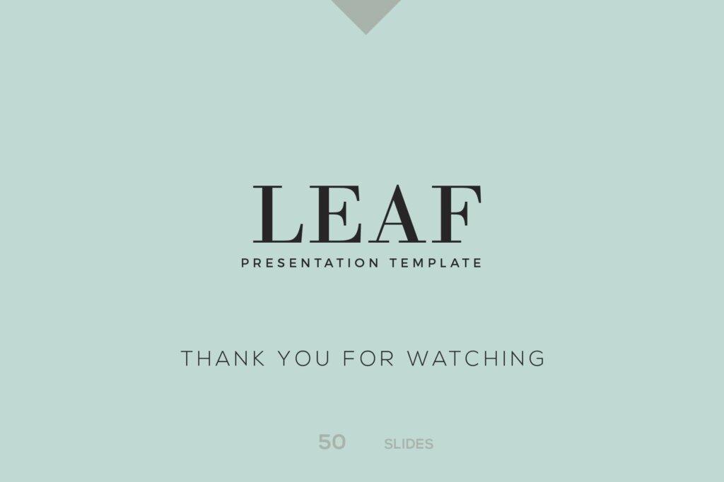 绿色生活概念主题幻灯片PPT模版素材下载LEAF Powerpoint Template插图(8)