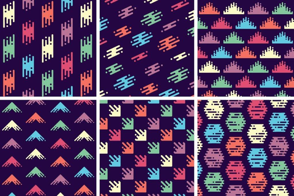 精致几何图案品牌装饰图案纹理Liquid Repeat Patterns插图(7)