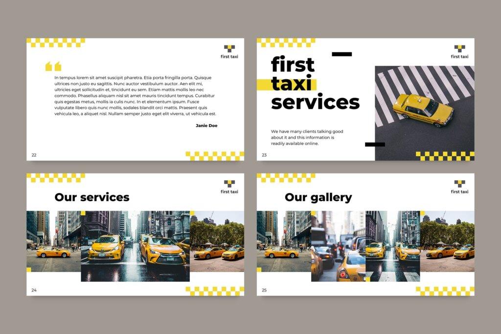 出租车行业数据大调查数据汇报幻灯片PPT模版Taxi Services PowerPoint Presentation Template插图(8)