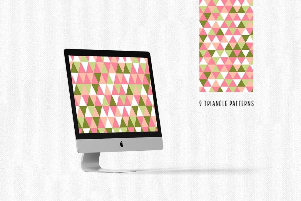 三角形平面构成图形图案纹理素材/品牌购物几何图形肌理图形纹理素材Triangle Patterns插图(8)