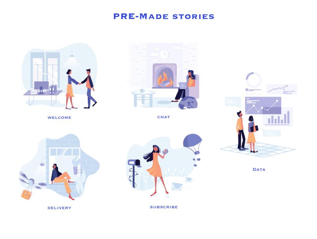 35个商务插图办公场景插图素材模板下载Awesome Illustrations插图(3)
