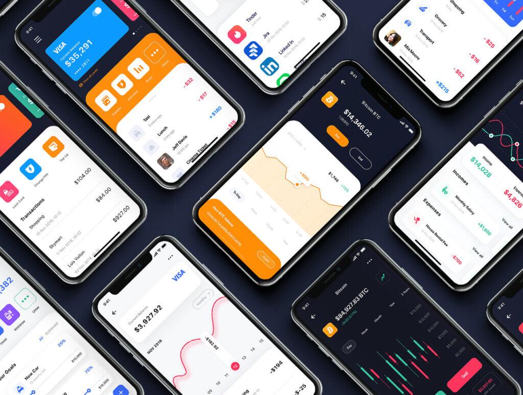 加密钱包货币数字/金融UI设计套件工具包Curium – Financial UI Kit插图(2)