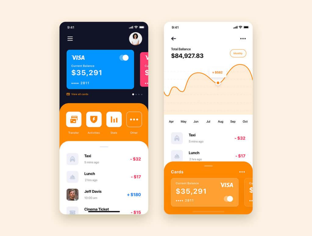 加密钱包货币数字/金融UI设计套件工具包Curium – Financial UI Kit插图(12)